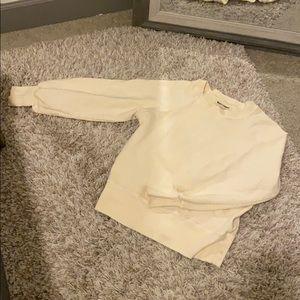 Rivet & Thread cream balloon sleeve sweater